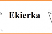 """Pierwszy numer naszej gazetki szkolnej """"Ekierka"""""""